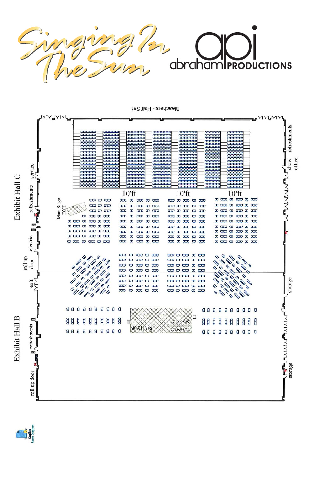 Abraham Productions | Singing In The Sun | Seating Diagram